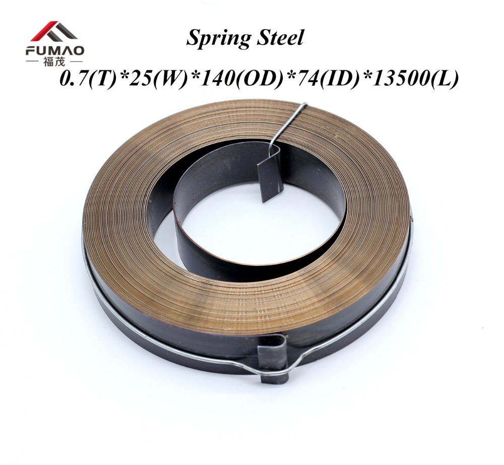 Custom springs steel constant force spiral springs 0 7 t 25 w 140 OD 74 ID