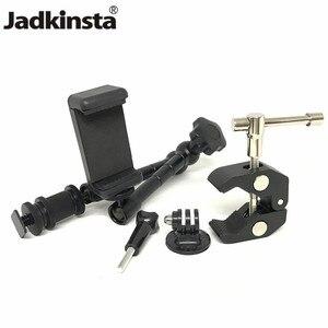 Image 1 - Jadkinsta 11 дюймов Регулируемый фрикционный шарнирный магический рычаг + Супер зажим + зажим для телефона для Gopro DSLR монитор светодиодный видео светильник