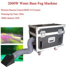 цена на Good Effect 2000W Water Base Fog Machine Water Mist Low Fog Smoke Machine DMX512 Music DJ Disco Party Stage Lighting Equipment