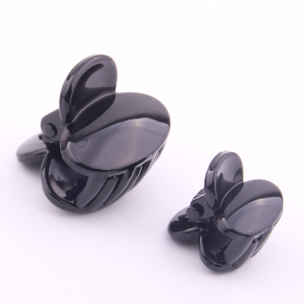 Good Quality Fashion cute butterfly mini hair claws for girls fringe hair clips small Plastic hair clamps 2*3cm 1.5*2cm ON SALES fashion women girls 12pcs black plastic mini hairpin 10 claws hair clip clamp