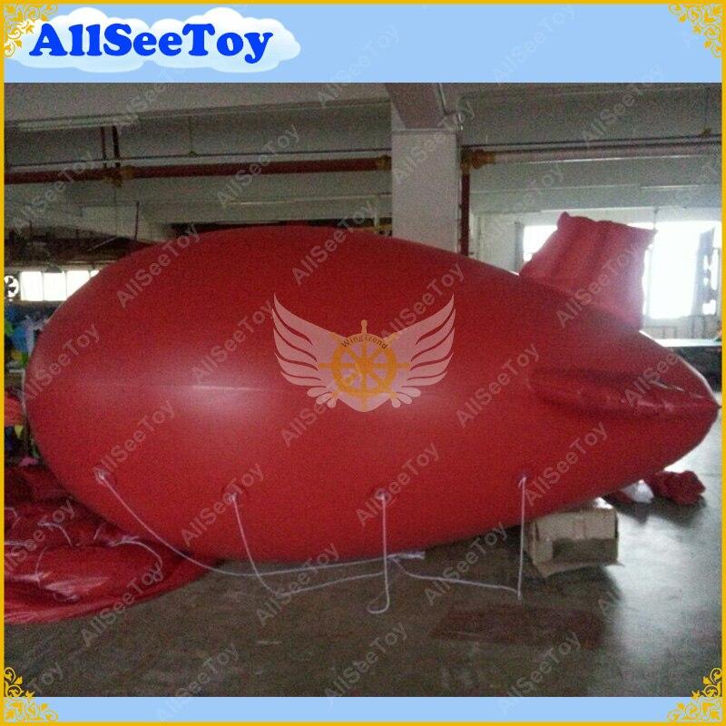 DHL 13 футов Длинные надувные рекламные блимпы надувные дирижабли Zeppeline для мероприятий без логотипа