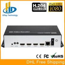 Quatro Em Um HDMI + MIC Para IP Ao Vivo Streaming de Áudio e Vídeo codificador H.264 Encoder HDMI Encoder RTMP IPTV H264 Com HTTP RTSP HLS UDP