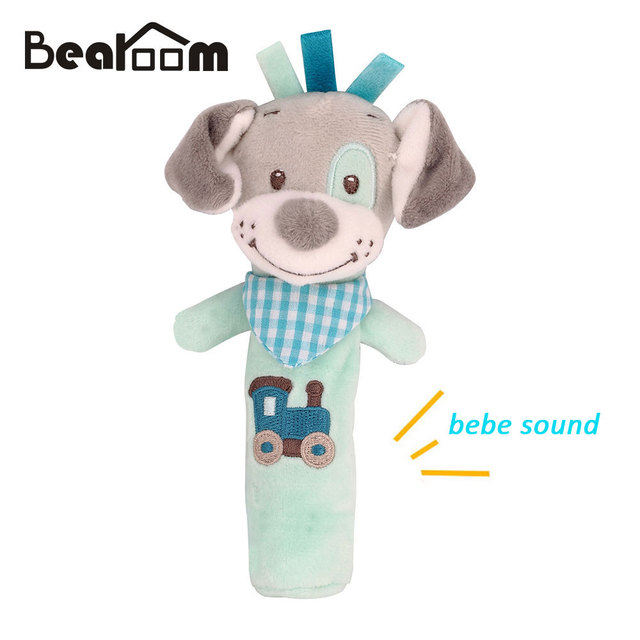 Bearoom Baby Rattle Mobiles Cute Baby Toys Cartoon Animal Hand Bell Rattle Soft Toddler 0-12 Months