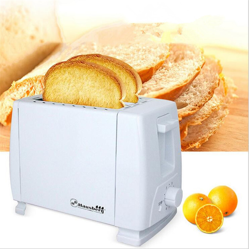 Household Stainless Steel 2 Slices Toaster Bread Machine With Euro Plug For Breakfast dmwd mini household bread maker electrical toaster cake cooker 2 slices pieces automatic breakfast toasting baking machine eu us