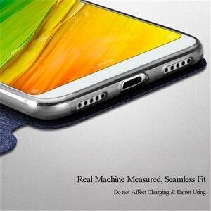 Image 4 - MOFI pour Xiaomi Redmi 5 étui à rabat en cuir pour riz rouge 5 Plus housse Hongmi 5 Plus coque de fonction de support pour Redmi 4X S2
