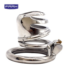 FRRK Male Chastity Device CB6000 scrotum Cock Ring Penis Ring Lock Dick Bondage Chastity Cage Penis sleeve Sex Toys For Men 980g scrotum penis ring cockrings male chastity devices cock ring stainless steel scrotum bondage adult sex toys for men gay