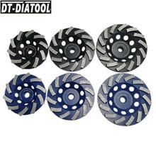 цена на DT-DIATOOL 2pcs/pk 4/4.5/5/7 Diamond Segmented Turbo Cup Grinding Wheel with M14 or 5/8-11 thread for Concrete hard Stone