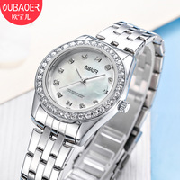 woman quartz watches oubaoer brand waterproof ladies luxury womens wristwatch stainless steel diamond calendar Citizen movement