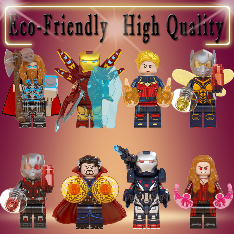 Marvel Avengers Endgame Thor Iron Man Antman Wasp Scarlet Witch Doctor Strange Aciton Fiugre Building Blcoks Toys Gifts WM6063