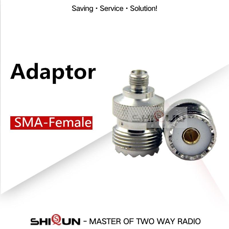SMA-Female Adaptor For Car Walkie Talkie Antenna Used For Handheld Walkie Talkie Baofeng Uv-5r Uv-82 Uv-9r Shiqun Sq-uv25 SMA-F