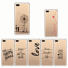 Interesting Text font Words Pirate Love Life Soft Silicone Phone Cases Cover for IPhone 7 8