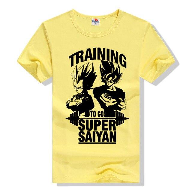 To Go Super Saiyan Design Men's T shirt Dragon Ball Goku Z Vegeta Printed Tees Anime Tops Men Printed T-shirt