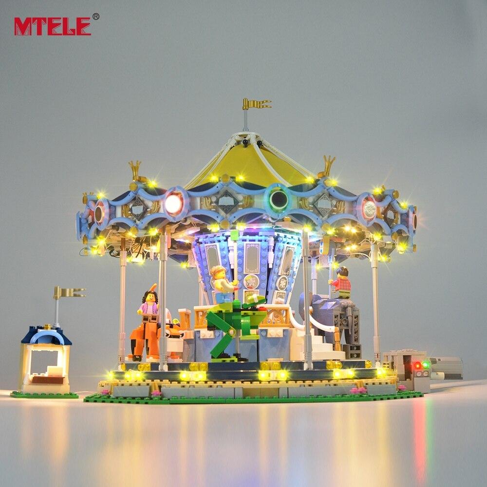 MTELE светодио дный свет комплект для Creator Expert Новый карусель свет комплект совместим с 10257 и 15036 (не включает модель)