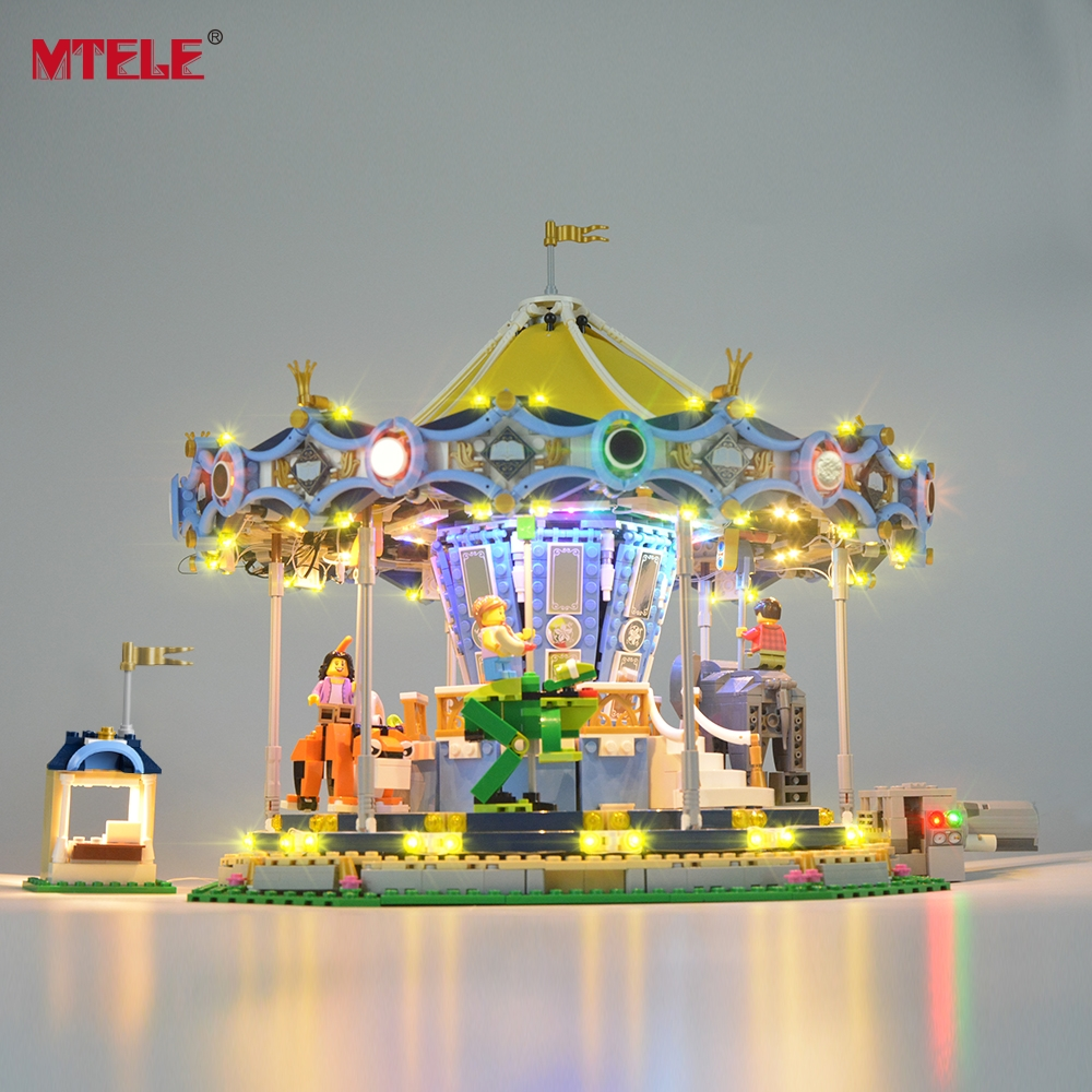 MTELE Led Light Kit For 10257 Creator Expert The New Carousel Light Set Compatible With 15036 (NOT Include The Model)