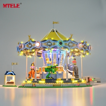 MTELE Led Light Kit For 10257 Creator Expert The New Carousel Light Set Compatible With 15036 (NOT Include The Model) цена 2017