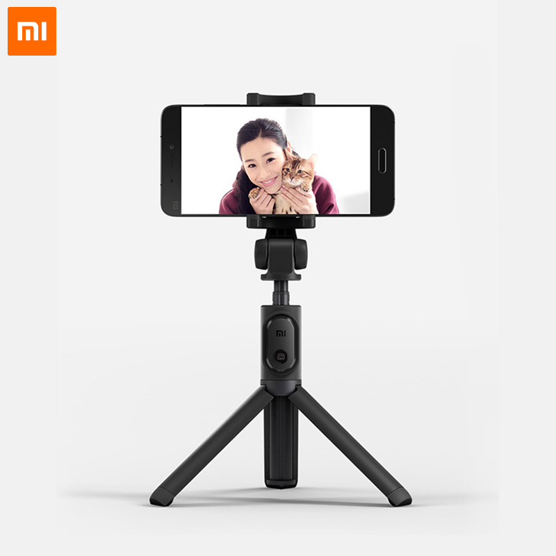 Original Xiao mi mi Selfiestick Com Obturador Sem Fio Dobrável Tripé Selfie Vara Bluetooth Selfie Vara Para Telemóveis