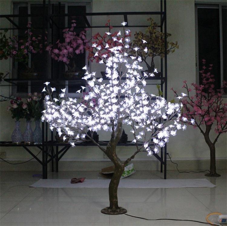 Бесплатная доставка 5ft 1,5 м белый светодиодный моделирование светодиодный цветущее дерево вишни, свадьбы, Рождества, светильник деко