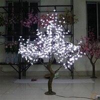 Free ship 5ft 1.5M White LED Simulation LED Cherry Blossom Tree Wedding Christmas Light deco