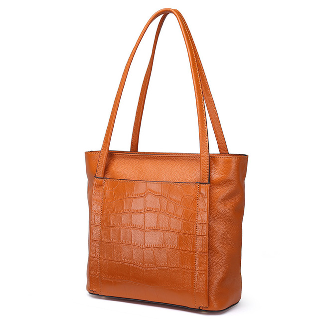 2ed332ba0f3c0 2017 Winter Stone Pattern Women's Handbag Large Capacity Ladies Shoulder Bag  Genuine Leather Tote Bag Female Shopper Bag Luxury