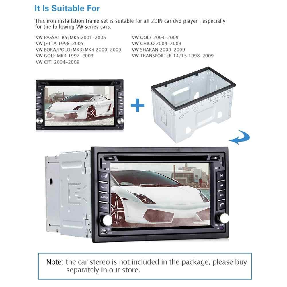 Android のカーメディア DVD MP5 Android プレーヤーラジオ取付フレームゴルフ/ポロ/MK3/ジェッタ/ユニバーサル日本車パネルフレーム