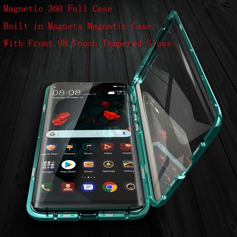 Luxe Magnetische Case Voor Huawei Mate20 6.53 Inch 360 Front + Back Dubbelzijdig 9 H Gehard Glas Screen Metal Bumper Cover Ks0174 Goede Metgezellen Voor Kinderen Evenals Volwassenen