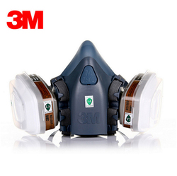 3M 7502 Half Facepiece Respirator Painting Spraying Gas Mask Safety Work Filter Dust Mask