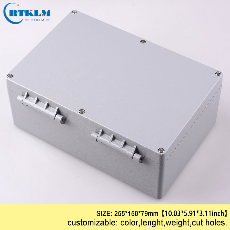 Seal wire connectors instrument aluminum enclosure housing for electronics project box IP68 waterproof junction box 255*150*79mm