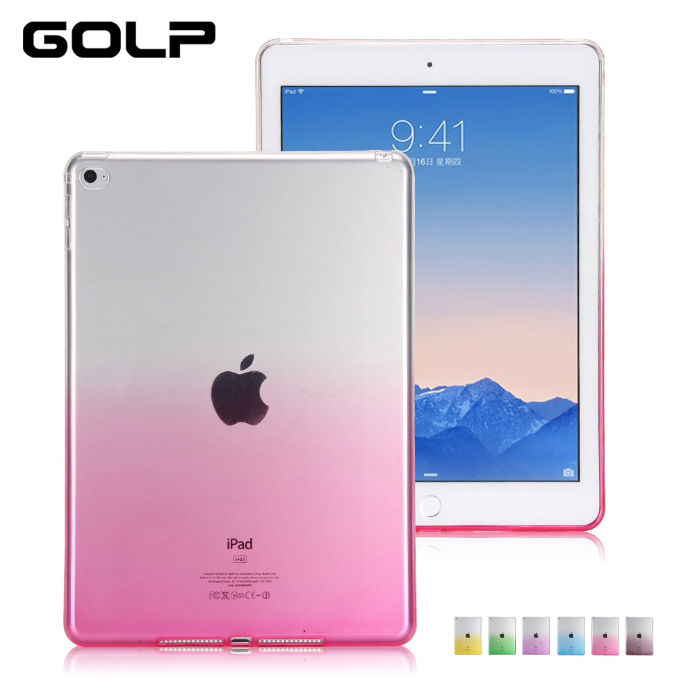 Cover for ipad mini case, GOLP Soft TPU back cover for iPad mini 1 2 3 case, Ultra Slim soft silicone For iPad mini 4 Case