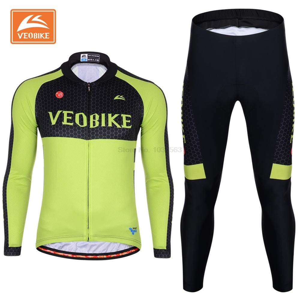 VEOBIKE Pro Team Cycling Bike Jersey Racing Sports Clothing Ropa Ciclismo Long Sleeve MTB Bicycle Breathable Sportswear Maillot cheji team pro team sportswear long sleeve ropa ciclismo cycling jersey bicycle bike mtb cycle clothing 6d padded pants sets