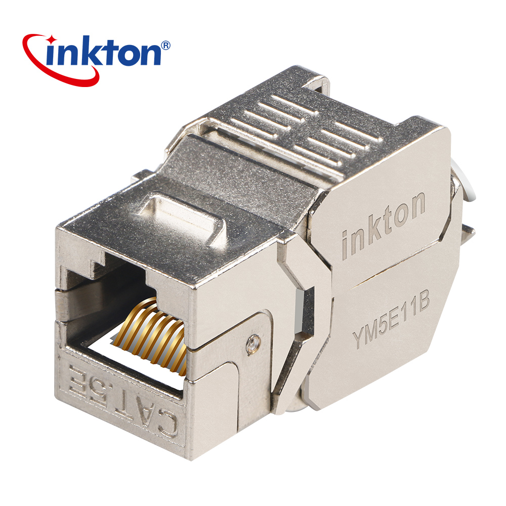 hight resolution of inkton cat5e ethernet connector ftp keystone jack rj45 modular ethernet cable head plug shield network connector for lan cable in plug connectors from