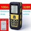 Yellow 320ft 100m Laser Distance Meter Digital Laser Rangefinder Digital Laser Tape Measure Area Volume M