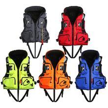 1 vnt Adult Life Jacket Reguliuojamas Saugos Gelbėjimosi liemenė Išlikimo Vest Plaukimas Plaukiojimas Plaukiojimas Žvejyba Slidinėjimo Dreifuojantis Vest L-2XL Dydis Striukė