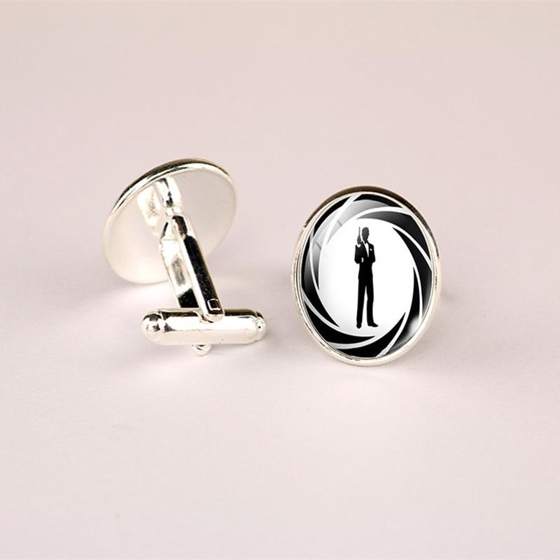 James Bond 007 Cufflink /& Tiebar Set of 2 Gift Set Wedding Logo Novelty Jewelry Series w//Gift Box New 2018 Movies