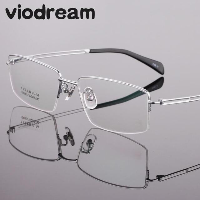 d6ffe11de6 Viodream Ultra Light Fashion Business Pure Titanium Spectacle Frame Half  Prescription Myopia Glasses Frames Man Oculos