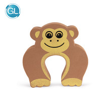 Children Baby Safty Door Stoper Lock and Triangle Corner Guard Protection Kit. Cartoon Monkey Kids Finger Protector Pinch Guard(China)
