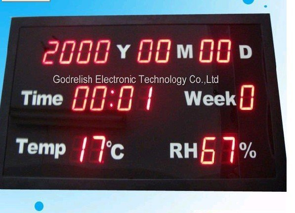 High quality led calendar clock