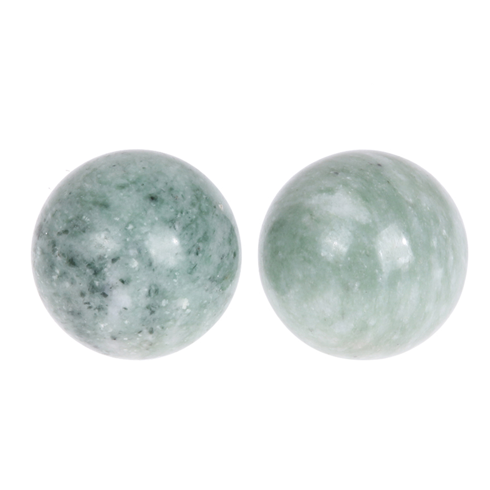 2pcs Natural Jade Ball Body Massager Training Hand Antistress Relief Stress Massage Health Care Handfinger Toys Ball iv training hand injection hand