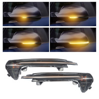 2 pieces Dynamic Turn Signal LED for Audi A6 C7 RS6 4G Flowing Side Mirror Light Sequential flasher 2013 2014 2015 2017 2018