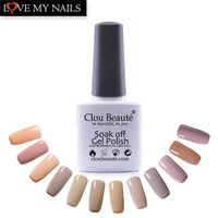 Nude Series 12 Colors/Set Clou Beaute Led Lamp Nail UV Gel Polish lacquer Soak off Gel Nail Professional Nail Polish Art Set