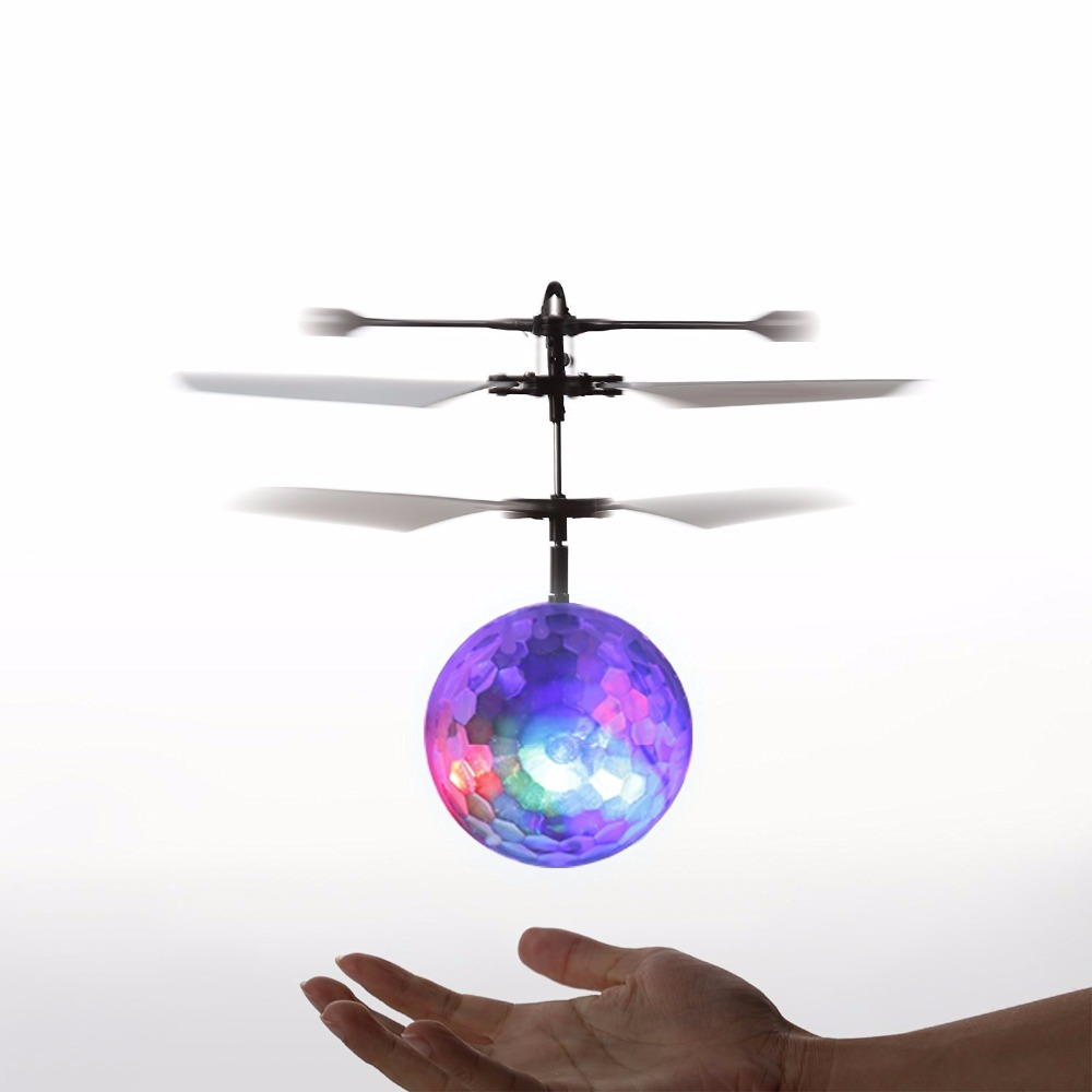Recommend Induction Fly Flash Ball Toys Remote Control RC Helicopter Flying Quadcopter Drone Kids Toy Fairy