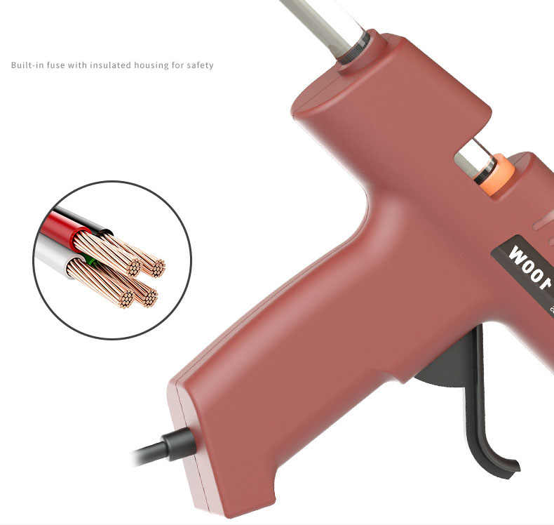 220 Vhot Melt Glue Gun Senjata Mini 30 W 80W 100W 120W Thermo Listrik Suhu Panas Alat lem Stick 7 Mm 11 Mm Perbaikan Alat-alat Panas