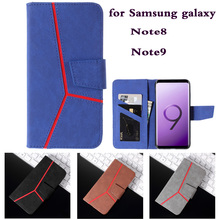 Note9 Case For Samsung Galaxy Note 9 splice Leather Case Card Holder Stand Book Flip Cover Samsung galaxy Note 8 pu Wallet Case protective lychee pattern pu leather case w card slots holder for samsung galaxy note 3 black