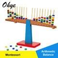 Alta Qualidade Montessori Educativos Brinquedos De Madeira Jogo De Equilíbrio Para As Crianças Puzzle Brinquedo de Pesagem Balança de Bebê WD41-44