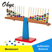 High Quality Montessori Educational Wooden Balance Game Toys For Children Weighing Puzzle Toy Baby Balance Scale