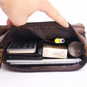 Image 5 - mens genuine leather shoulder bag Messenger Bag Flap ipad men bag style bag Solid male Business 2018 new ZZNICK