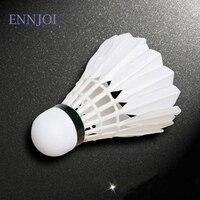 12pcs Training White Duck Feathers Badminton Shuttlecocks Ball Game Sport Entertainment Product Badminton Balls