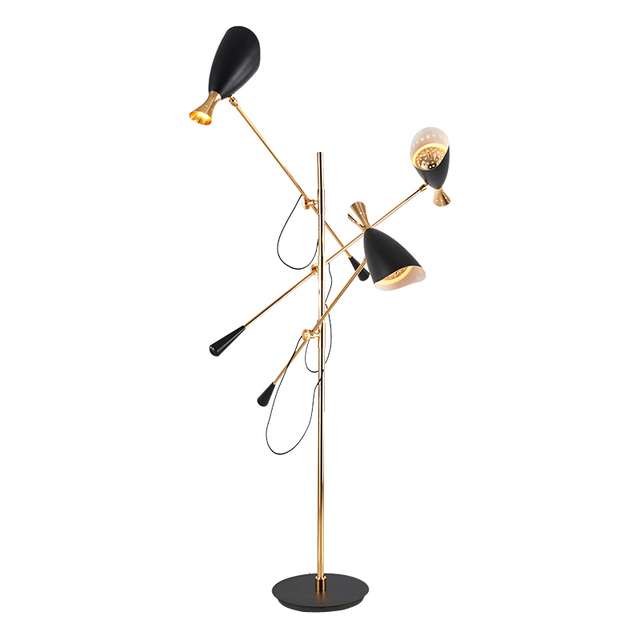 Beau 3 Arm LED Floor Lamp Adjustable Modern Standing Light For Living Room Hall  Floor Hotel Lighting