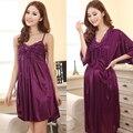 Envío libre más el tamaño Ml XL XXL marca verano estilo productos del sexo ropa de dormir de las mujeres ropa de dormir camisón vestido de la noche 11 color