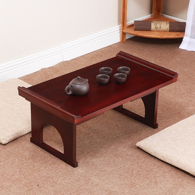 Asian Furniture Japanese Antique Console Table Folding Legs Rectangle 60cm  Living Room Traditional Solid Wood Tray Table Wooden