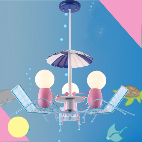LED lovely beach chair children bedroom Pendant Light creative art new personality boy girl entertainment Pendant lamp ya7313 скатерть angel ya children tsye zb266 88